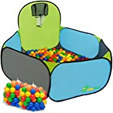 LittleTom Piscine à Boules Pop-up pour Jouer au Basket 120x100cm INCL 200 Boules