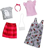 Barbie Fashion Set Vestiti, Due Outfit Maglietta Orso Polare e Gonna, per Bambini 3+ Anni,...