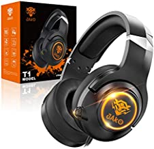 JAKO Gaming Headset for PS4 Xbox One Playstation 4 and Nintendo Switch, Noise Cancelling Over Ear Headphones with Mic, Headset with Soft Earmuffs for PC Notebook MP4 Mobile Phone and Ipad