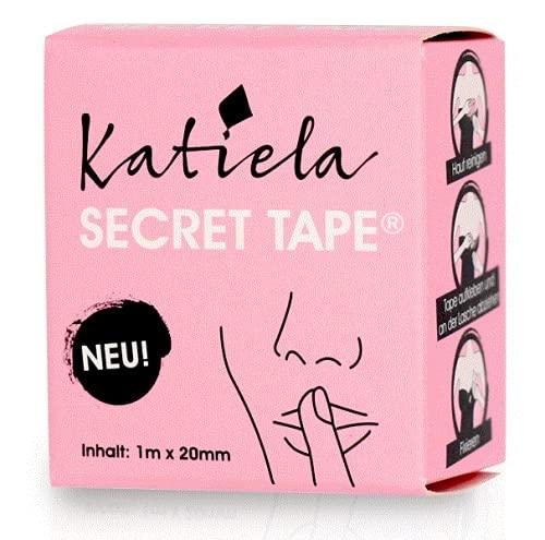 Katiela Secret Fashion Tape doppelseitig Transparent für den Körper Body Tape klinisch getestet 1m x20 mm doppelseitiges Klebeband Haut Klebestreifen