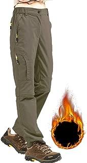 Asfixiado Women's Waterproof Hiking Pants Outdoor Winter Windproof Softshell Fleece Lined Snow Ski Travel Cargo Durable Trousers #6601F