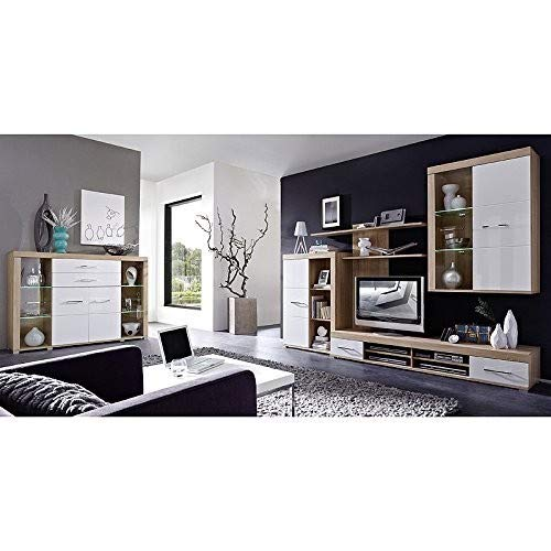 Peter DSHW561031 TV-Element Schrank Unterteil Kommode fernseherstand fernseherständer, Holz, braun, 48.0 x 200.0 x 31.0 cm - 4