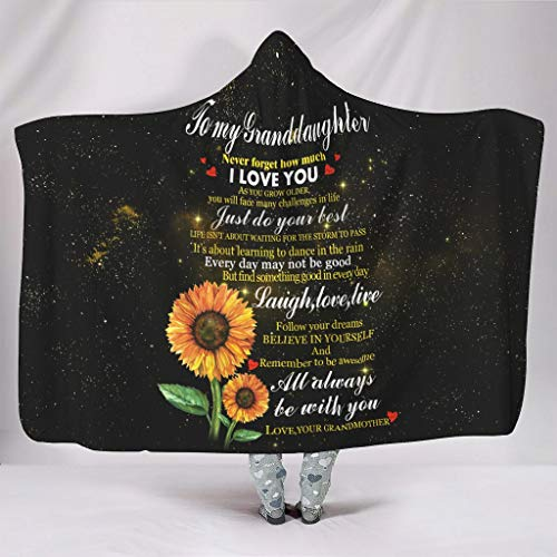 Wandlovers knuffelig met capuchon deken grappige spreuken Enkelin - ik zal altijd bij jou zijn druk fleece warme capuchon sprei knuffelen