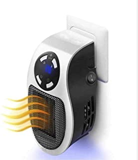JJSFJH Oficina del calentador de espacio debajo del escritorio tranquila calefactor eléctrico portátil con mando a distancia y la pantalla LED, térmica PTC cerámica, protección contra sobrecalentamien