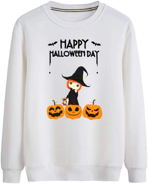 VOHJKENM Pullover Happy Halloween All-Match Pullover Airy Outwear Thinner Men (Color : B01, Size : Medium)