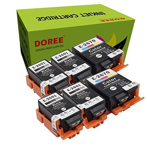 Doree T2661/2670 para Epson WorkForce WF-100W, WF 100 (W), WF100, WF100W (4 negro y 2 colores)