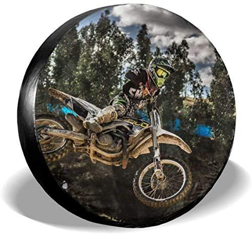 MODORSAN Motocross Sport Motocicleta Vehículo Rueda de Repuesto Cubierta de neumático Poliéster Cubiertas de Rueda universales para Jeep Trailer RV SUV Accesorios de camión, 14 Pulgadas