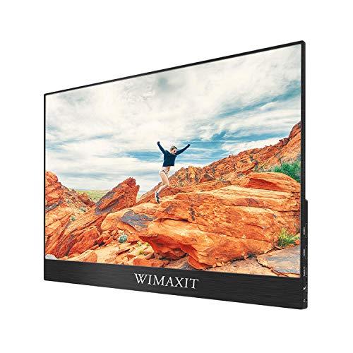 Monitor táctil portátil WIMAXIT de 15,6 pulgadas, monitor de juegos ultradelgado de 1920x1080 tipo C / USB C para computadora portátil, PC, teléfonos inteligentes, conmutador, Xbox, PS4