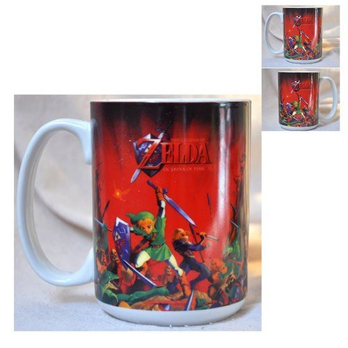 Zelda Ocarina of Time - Taza (320 ml), color rojo