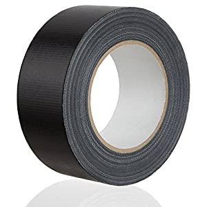 MAXKO ruban toile adhésif, power tape, extra forte, noire, 50 m x 50 mm