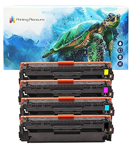 Printing Pleasure FULL SET of Compatible Laser Toner Cartridges for HP...