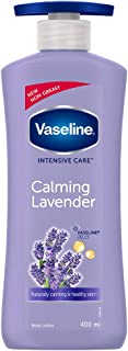 Vaseline Intensive Care Calming Lavender Body Lotion, With 100% Pure Lavender Extracts, Non-Greasy Formula, 400 ml