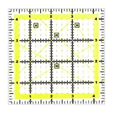 Acryl-Quilter-Lineal, 11,5 cm, quadratisches Nählineal für einfaches Präzisionsschneiden, Quilten, Nähen, Heimwerken, Basteln