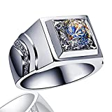 YANGYUE Anillo de Plata de Ley 925 para Hombre, Elegante y Exquisito, Diamante de Gran quilate, Compromiso de Moissanite, joyería Fina para Fiesta de Boda