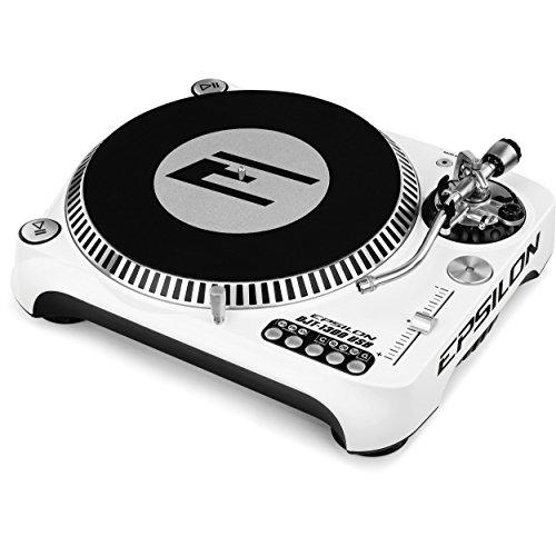 EPSILON DJT-1300-WH WHITE TRAZIONE DIRETTA USB GIRADISCHI QUARZO DIGITALE REVERSE MULTI-VELOCITA BIANCO