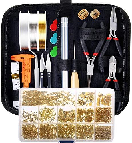 Kits de joyería, que incluyen herramientas de joyería, líneas de joyería y accesorios de joyería, herramientas para principiantes de bricolaje para hacer joyas y reparación de joyas