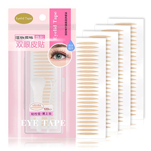 Slim Lace Eye Lids Lift Strips Instantly without Surgery, Bigger Rounder Eyes, One-sided Sticky Double Eyelid Tapes for Single Uneven Saggy Droopy Hooded Eyelids