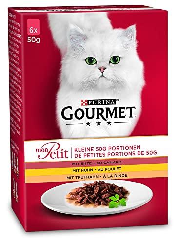 Purina Gourmet - Comida para Gatos Adultos Mon Petit, 8 Unidades (8 x 6 x 50 g) ⭐