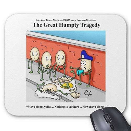 Accesorios de ordenador anti-fricción pulsera Humpty Dumpty Police Investigation Funny Gifts Mouse Pad 18X22