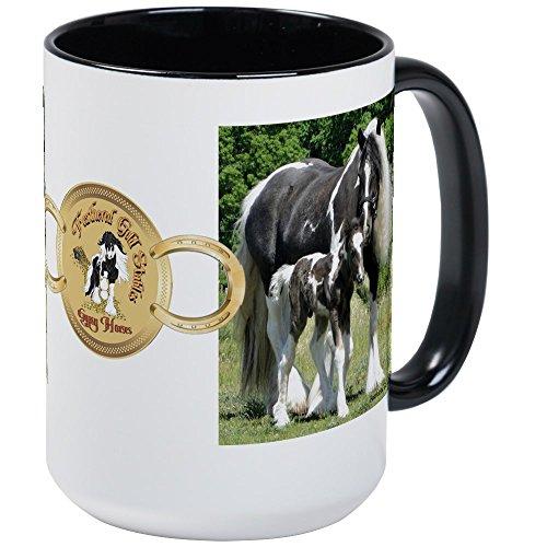CafePress Kaffeetasse mit Facebook-Bild 2012, keramik, Innen weiß/schwarz, Large