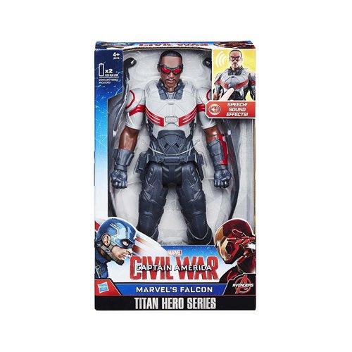 Marvel - Capitán América: la Guerra Civil - Titan Serie del héroe - Falcon - 30 cm estatuilla con Efectos de Sonido en Inglés