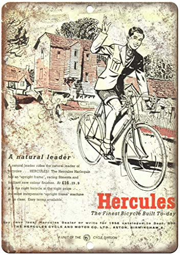 niet Hercules Harlequin Fiets Metalen Poster Tin Teken IJzer Schilderen Waarschuwing Teken Plaque Wanddecoratie voor Café Bar Hotel Office Home Yard