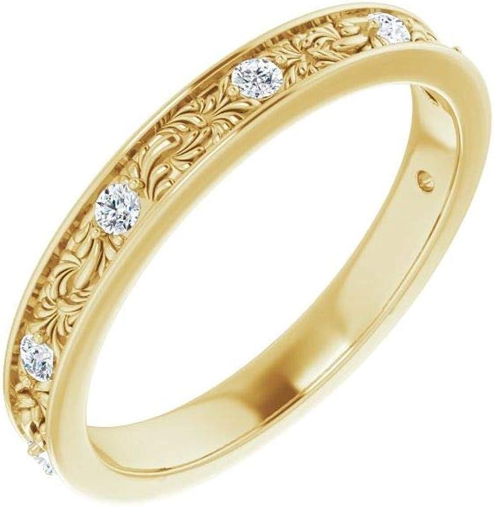 1/6 Cttw Diamond Wedding Band Anniversary Ring (.16 Cttw) (Width = 2.8mm)