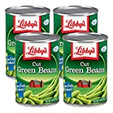 Libby's Cut Green Beans | Naturally Delicious, Mild & Subtly Sweet | Crisp-Tender Bite | No Preservatives | Grown & Made in U.S. | 14.5 ounce can (Pack of 4)