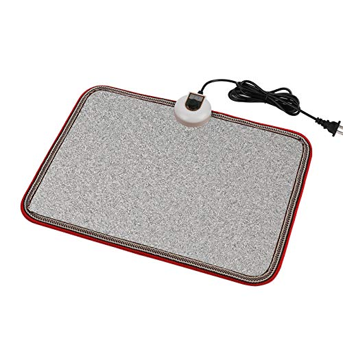 OLYDON Electric Heated Floor Mats Under Desk, Heated Foot Warmer - 110v Toes Warming Heater for Office and Home