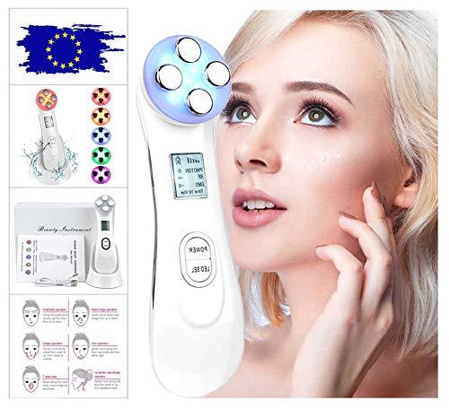 Aparato Facial de Radiofrecuencia Terapia de luz LED de 6 Colores Antiarrugas Antienvejecimiento Rejuvenecimiento Limpieza Profunda