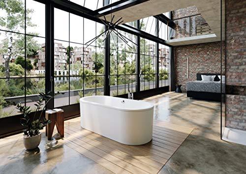 Kaldewei Meisterstück Classic Duo Oval, freistehende Badewanne, 170x75x42 cm, mit Schürze Außenfarbe alpinweiß matt, 113-7, Farbe: Weiss matt - 291448050711
