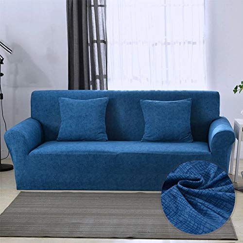 Universelle Sofabezug,Slipcovers Sofa Cover Solid Color Blue Pattern Stretch Elastic Sofa Covers For Living Room Couch Cover Sofa Handtuch Für Haus Sofa Dekoration Single / Zwei / Drei / Viersitzer,