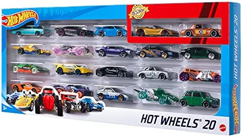 Hot Wheels 900 H7045 20 Diecast Pack and Mini Toy Cars, Multi-Colour