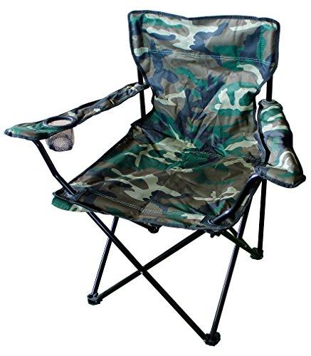Mojawo Anglersessel Campingstuhl Faltstuhl Anglerstuhl Regiestuhl mit Getränkehalter und Tasche, Farben Anglerstühle:Camouflage