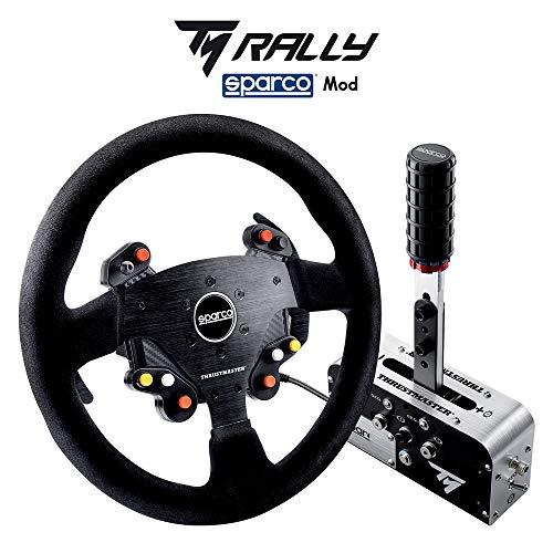 Thrustmaster TM Rally Race Gear Sparco Mod (Lenkrad AddOn, 33 cm, Wildleder, Handbremse / Schalthebel, PS4 / Xbox One / PC)