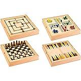Legnoland 37804 Spielesammlung aus Holz, 36 x 36 cm