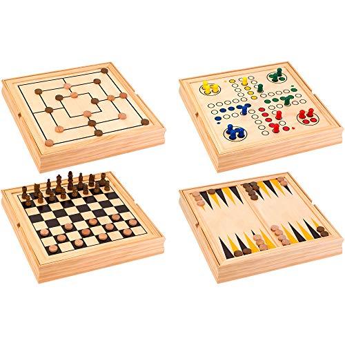 Legnoland- Giochi Riuniti in Legno, 36x36 cm, 37804