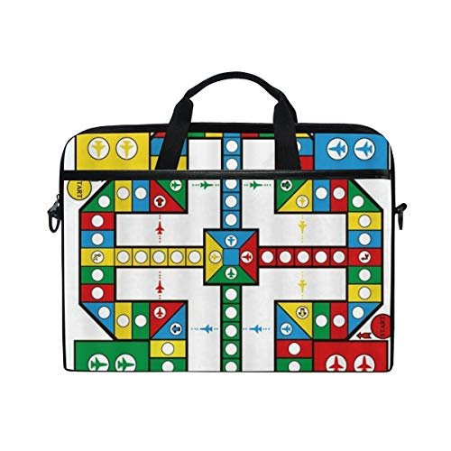FOURFOOL 15-15.6 inch Laptop Bag,Flight Chess Competitive Game Intellectual Development For Kid Adult Plaything Four Colors Plane Cir,New Print Pattern Briefcase Shoulder Messenger Handbag Case Sleeve