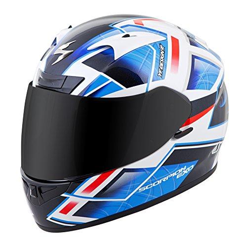 Scorpion EXO-R710 Unisex-Adult Full Face Motorcycle Helmet (Blue, Small) (Fuji)