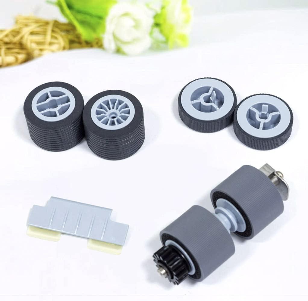 1 Set New Scanner Brake Roller Pickup Roller Compatible for Fujitsu fi-5950 fi5900C fi5900