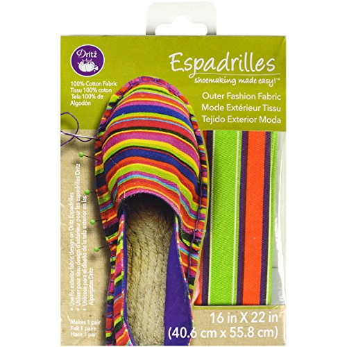Derde katoen espadrilles basic buitenkant speciale stoffen 16 x 22-inch-multi strepen oranje/paars/limoengroen/wit