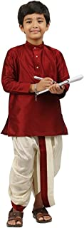 Kids-Boys-Kurta-Dhoti-Set-Indian-Ethnic-Cultural-Fancy-Party-Dress-Cotton