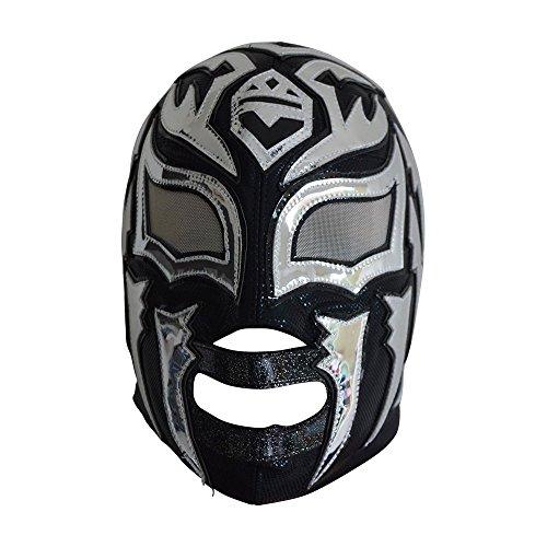 La Sombra Halbprofessionelle Lycra Lucha Libre Wrestling Maske Erwachsenengröße Luchador Maske Schwarz Premium Qualität Mascara de Luchador für Cosplay oder professionelle Wrestling
