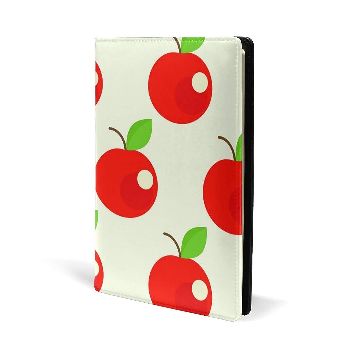 認める思春期注ぎますブックカバー a5 りんご柄 かわいい きれい 文庫 PUレザー ファイル オフィス用品 読書 文庫判 資料 日記 収納入れ 高級感 耐久性 雑貨 プレゼント 機能性 耐久性 軽量