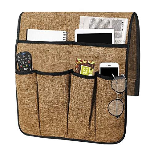 Bolsa de almacenamiento para sofá, silla, 6 bolsillos, funda de sofá, botella, mando a distancia, tabletas, teléfonos,