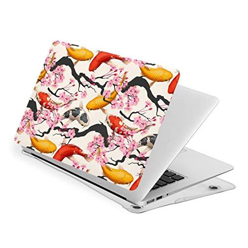Koi Fish and Sakura MacBook Air 13 inch Case Release A1932 Cute Hard Shell Cover for New Version Mac Air 13