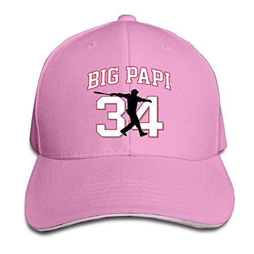 PalmerHats Boston Big Papi–Juego de béisbol Tapas de Gorra Ajustable para Hombre y Mujer