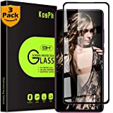 [3-Pack] KOSPH for Mi 9T /9T Pro/Redmi K20 /Pro Tempered Glass Screen Protector, 9H 2.5D Glass Film with Oleophobic Coating, Anti Scratch/Impact Absorption/High Clarity (Max Coverage, Black)