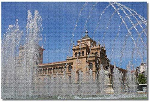 Smntt 1000pcs Puzzle Rompecabezas Puzzle Rompecabezas de Museo Nacional de Escultura de España Valladolid para Infantiles Adolescentes DIY Juguetes Regalo