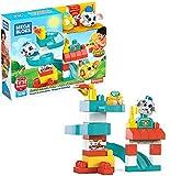 Mega Bloks First Builders Coucou Blocs Coffret Parc d'Attractions chien et chat, jeu de construction, 35 pièces, jouet pour enfant et bébé dès 1 an, GKX70